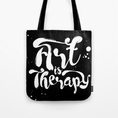 Art is Therapy Tote Bag