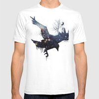 Space Raven Mens Fitted Tee White SMALL