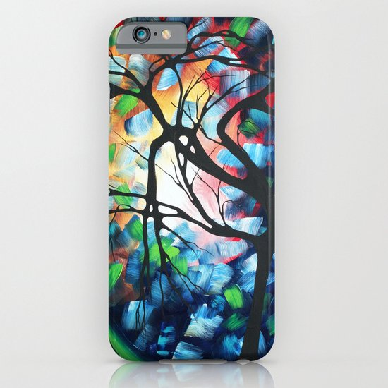 """Abstract Contemporary Art """"Tree Maze"""" by MADART Original Painting iPhone & iPod Case"""