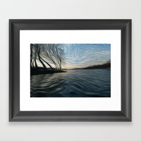 Lost In The Waves Framed Art Print