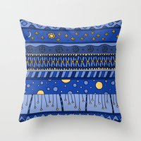 Yzor Pattern 010 Night Throw Pillow