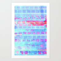 Hot Squares! Art Print