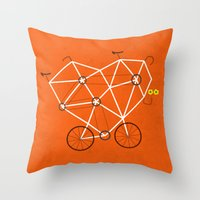 Lovecycle Throw Pillow