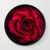 Texture Of A Rose Wall Clock