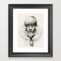 Homeless Hipster Framed Art Print