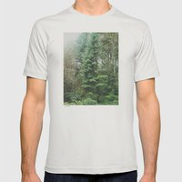 With the Trees Mens Fitted Tee Silver SMALL