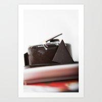 chocolate mouse cake Art Print