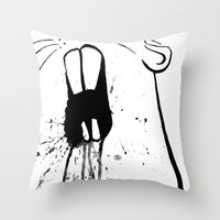 Zombie Gopher Throw Pillow