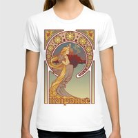 Raiponce Womens Fitted Tee White SMALL
