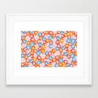 Morning Glory - Pink Multi Framed Art Print