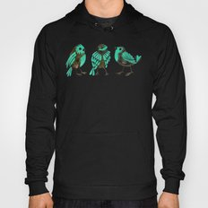 Turquoise Finches Hoody