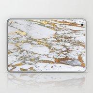 Laptop & iPad Skin featuring Gold Marble by Jenna Davis Designs