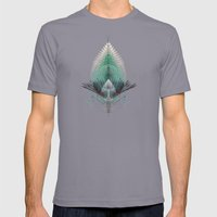 The Feathered Tribe Abst… Mens Fitted Tee Slate SMALL