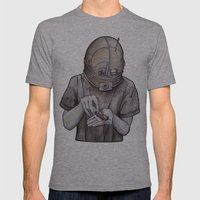 It starts early Mens Fitted Tee Athletic Grey SMALL