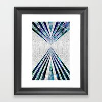 GEO BURST III Framed Art Print