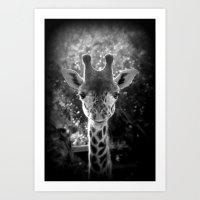 Charming Giraffe Art Print