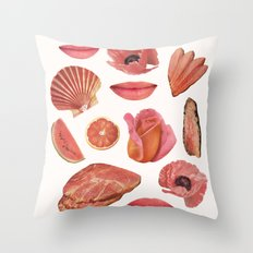 ROSE PINK Throw Pillow
