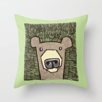 Dack The Bear Throw Pillow