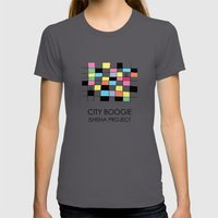 CITY BOOGIE  By ISHISHA … Womens Fitted Tee Asphalt SMALL