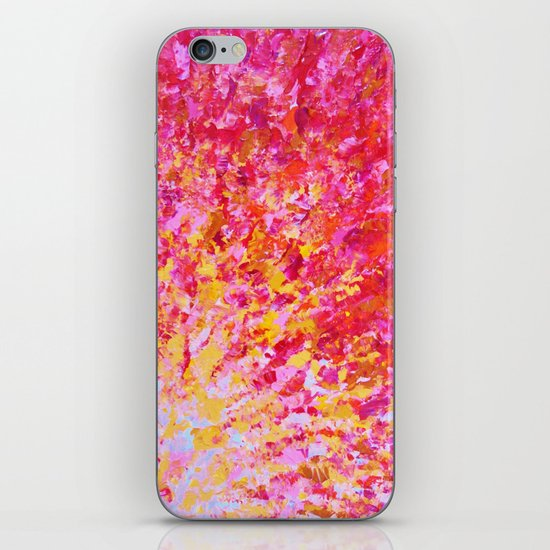 ROMANTIC DAYS - Lovely Sweet Romance, Valentine's Day Sweetheart Pink Red Abstract Acrylic Painting iPhone & iPod Skin