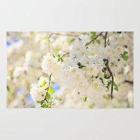 Delicate White Cherry Bl… Rug