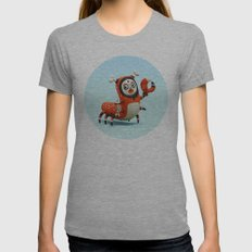 Dead Fish Womens Fitted Tee Athletic Grey SMALL