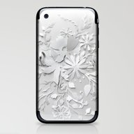 Elegant White iPhone & iPod Skin