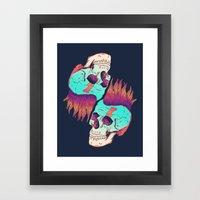 Skull Redux Framed Art Print
