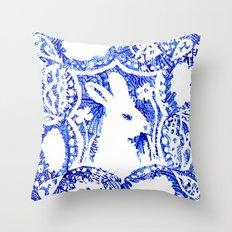 Rabbit's Dream Throw Pillow