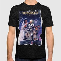 Beetlejuice: Ripped and Torn Greatness! Mens Fitted Tee Tri-Black SMALL