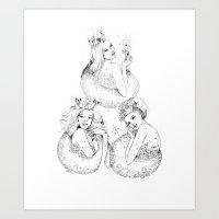Christmas Fairies Art Print
