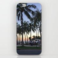 Sunset on Waikiki iPhone & iPod Skin