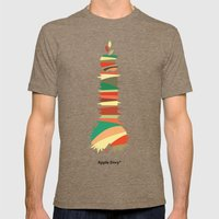 Apple Envy Mens Fitted Tee Tri-Coffee SMALL