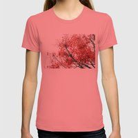 Star Berries Womens Fitted Tee Pomegranate SMALL
