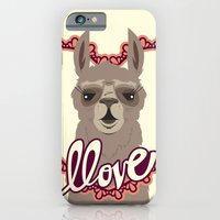 iPhone & iPod Case featuring Llama Llove by Steph Dillon
