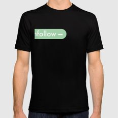 unfollow- Mens Fitted Tee Black SMALL