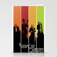 The Mt. Rushmore Quartet Stationery Cards