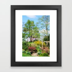 Spring Garden Setting Framed Art Print