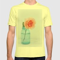 Rose in a Jar Mens Fitted Tee Lemon SMALL