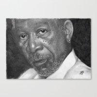 Morgan Freeman Traditional Portrait Print Canvas Print