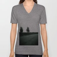 Blurry Trees Unisex V-Neck