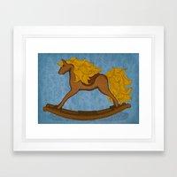 Peta approved racehorse Framed Art Print
