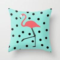 Flamingo Fever Throw Pillow