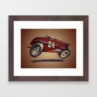 Red 24 Framed Art Print