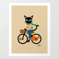 Whim's Cycling Art Print