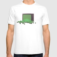 Press Play SMALL White Mens Fitted Tee