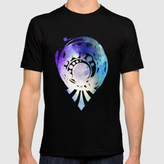 Silver Mirror Mens Fitted Tee Black SMALL