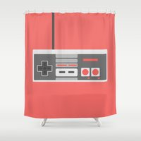 #48 NES Controller Shower Curtain