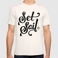 Set Sail Mens Fitted Tee Natural SMALL