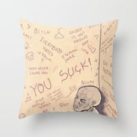 Painted Walls Throw Pillow